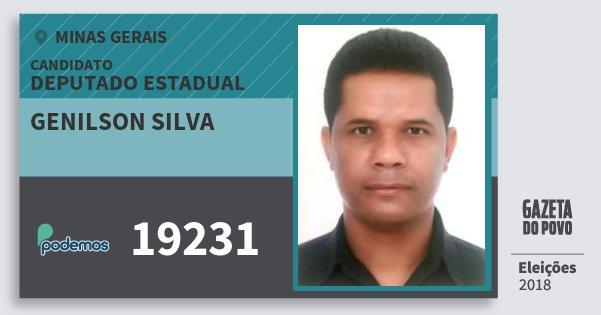 Santinho Genilson Silva 19231 (PODE) Deputado Estadual | Minas Gerais | Eleições 2018