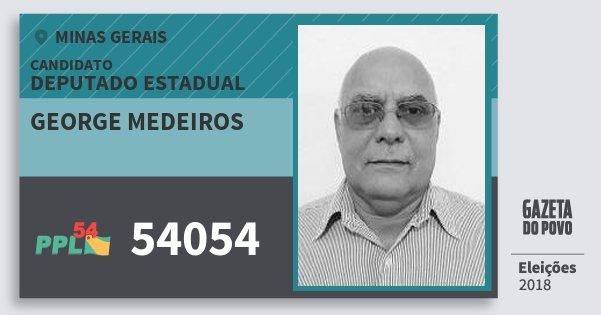 Santinho George Medeiros 54054 (PPL) Deputado Estadual | Minas Gerais | Eleições 2018