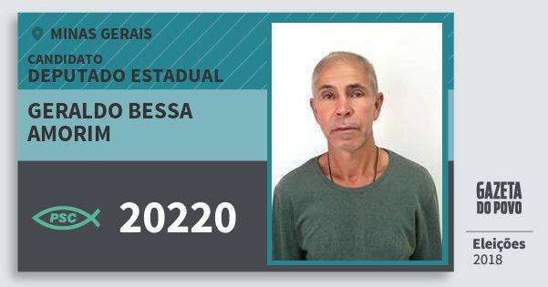 Santinho Geraldo Bessa Amorim 20220 (PSC) Deputado Estadual | Minas Gerais | Eleições 2018