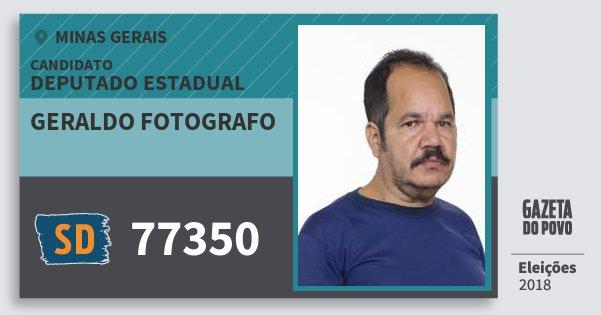 Santinho Geraldo Fotografo 77350 (SOLIDARIEDADE) Deputado Estadual | Minas Gerais | Eleições 2018