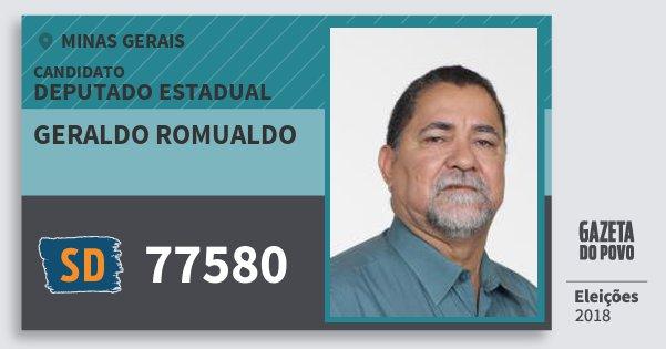 Santinho Geraldo Romualdo 77580 (SOLIDARIEDADE) Deputado Estadual | Minas Gerais | Eleições 2018