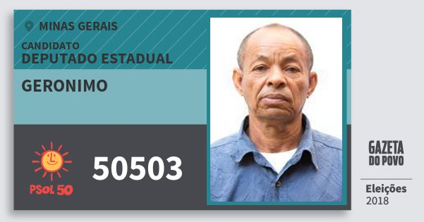 Santinho Geronimo 50503 (PSOL) Deputado Estadual | Minas Gerais | Eleições 2018