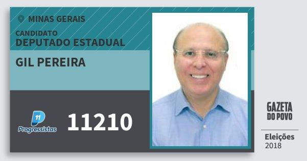 Santinho Gil Pereira 11210 (PP) Deputado Estadual | Minas Gerais | Eleições 2018