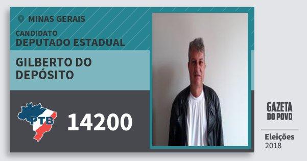 Santinho Gilberto do Depósito 14200 (PTB) Deputado Estadual | Minas Gerais | Eleições 2018