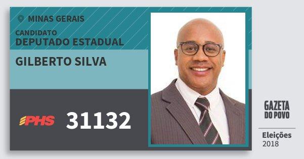 Santinho Gilberto Silva 31132 (PHS) Deputado Estadual | Minas Gerais | Eleições 2018