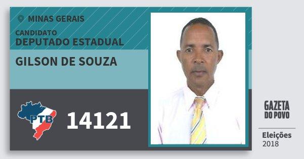 Santinho Gilson de Souza 14121 (PTB) Deputado Estadual | Minas Gerais | Eleições 2018