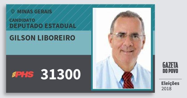 Santinho Gilson Liboreiro 31300 (PHS) Deputado Estadual | Minas Gerais | Eleições 2018