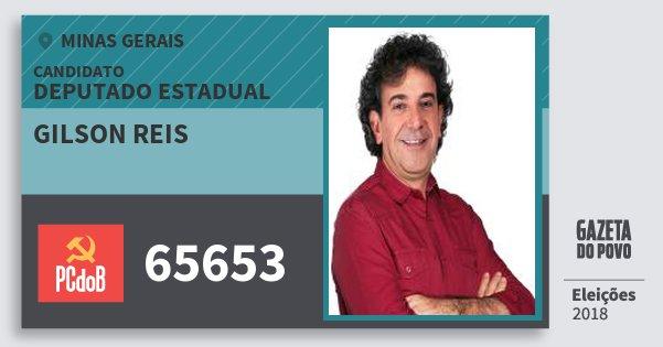 Santinho Gilson Reis 65653 (PC do B) Deputado Estadual | Minas Gerais | Eleições 2018