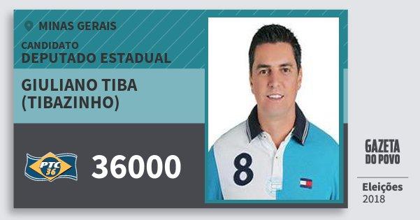 Santinho Giuliano Tiba (Tibazinho) 36000 (PTC) Deputado Estadual | Minas Gerais | Eleições 2018
