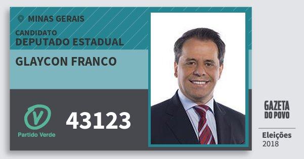 Santinho Glaycon Franco 43123 (PV) Deputado Estadual | Minas Gerais | Eleições 2018