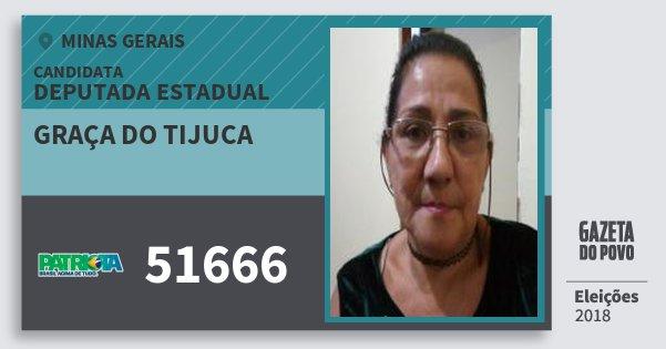 Santinho Graça do Tijuca 51666 (PATRI) Deputada Estadual | Minas Gerais | Eleições 2018