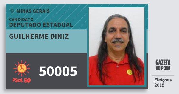 Santinho Guilherme Diniz 50005 (PSOL) Deputado Estadual | Minas Gerais | Eleições 2018