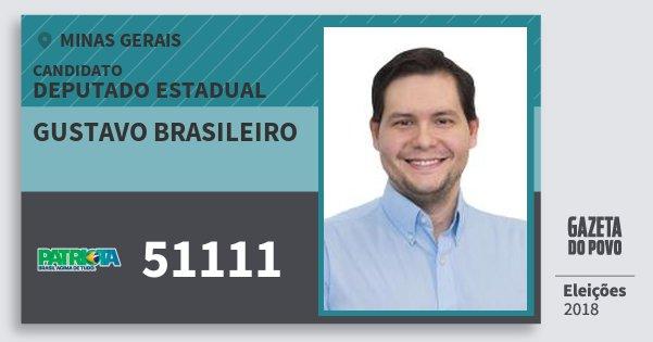 Santinho Gustavo Brasileiro 51111 (PATRI) Deputado Estadual | Minas Gerais | Eleições 2018