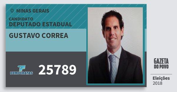 Santinho Gustavo Correa 25789 (DEM) Deputado Estadual | Minas Gerais | Eleições 2018