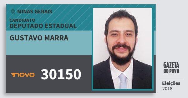 Santinho Gustavo Marra 30150 (NOVO) Deputado Estadual | Minas Gerais | Eleições 2018