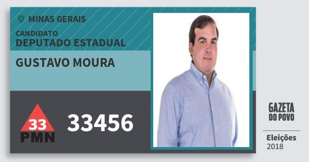 Santinho Gustavo Moura 33456 (PMN) Deputado Estadual | Minas Gerais | Eleições 2018