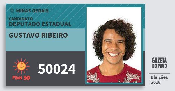 Santinho Gustavo Ribeiro 50024 (PSOL) Deputado Estadual | Minas Gerais | Eleições 2018