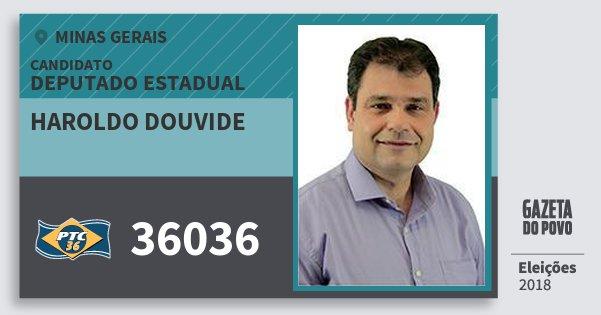 Santinho Haroldo Douvide 36036 (PTC) Deputado Estadual | Minas Gerais | Eleições 2018