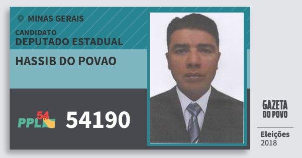 Santinho Hassib do Povao 54190 (PPL) Deputado Estadual   Minas Gerais   Eleições 2018