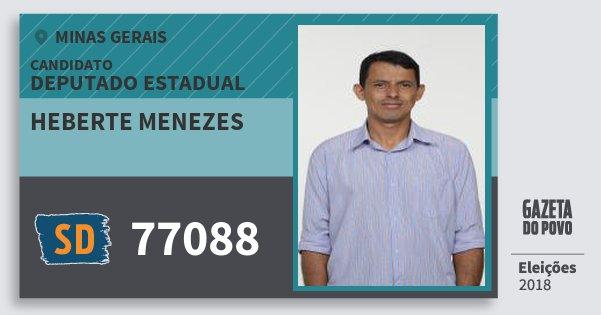 Santinho Heberte Menezes 77088 (SOLIDARIEDADE) Deputado Estadual | Minas Gerais | Eleições 2018