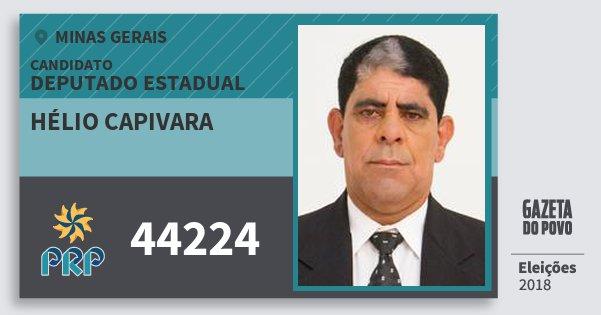 Santinho Hélio Capivara 44224 (PRP) Deputado Estadual | Minas Gerais | Eleições 2018