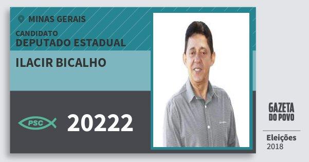 Santinho Ilacir Bicalho 20222 (PSC) Deputado Estadual | Minas Gerais | Eleições 2018
