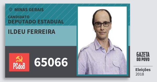 Santinho Ildeu Ferreira 65066 (PC do B) Deputado Estadual | Minas Gerais | Eleições 2018