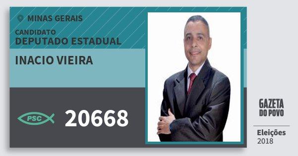 Santinho Inacio Vieira 20668 (PSC) Deputado Estadual | Minas Gerais | Eleições 2018