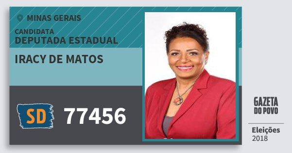 Santinho Iracy de Matos 77456 (SOLIDARIEDADE) Deputada Estadual | Minas Gerais | Eleições 2018
