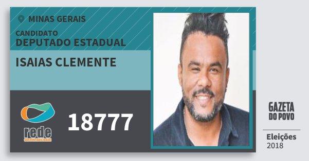 Santinho Isaias Clemente 18777 (REDE) Deputado Estadual | Minas Gerais | Eleições 2018