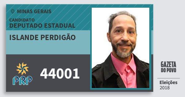 Santinho Islande Perdigão 44001 (PRP) Deputado Estadual | Minas Gerais | Eleições 2018