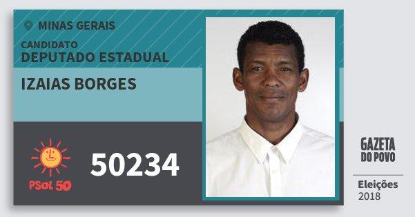Santinho Izaias Borges 50234 (PSOL) Deputado Estadual | Minas Gerais | Eleições 2018