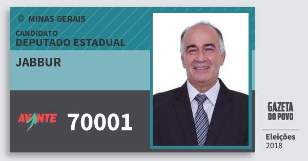 Santinho Jabbur 70001 (AVANTE) Deputado Estadual | Minas Gerais | Eleições 2018