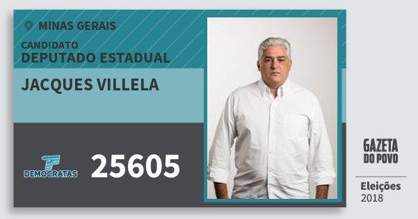 Santinho Jacques Villela 25605 (DEM) Deputado Estadual | Minas Gerais | Eleições 2018
