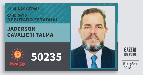 Santinho Jaderson Cavalieri Talma 50235 (PSOL) Deputado Estadual | Minas Gerais | Eleições 2018