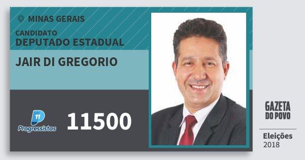 Santinho Jair di Gregorio 11500 (PP) Deputado Estadual | Minas Gerais | Eleições 2018
