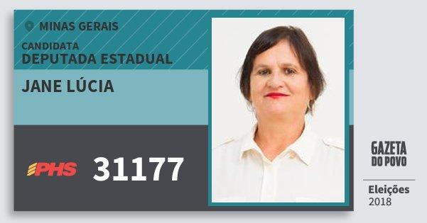 Santinho Jane Lúcia 31177 (PHS) Deputada Estadual | Minas Gerais | Eleições 2018