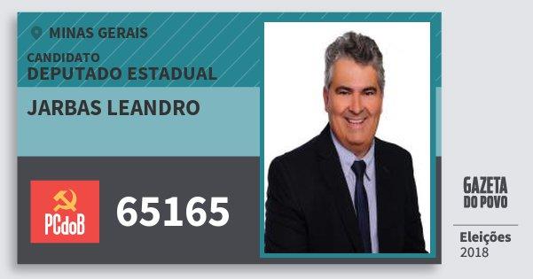 Santinho Jarbas Leandro 65165 (PC do B) Deputado Estadual | Minas Gerais | Eleições 2018