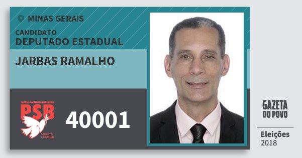 Santinho Jarbas Ramalho 40001 (PSB) Deputado Estadual | Minas Gerais | Eleições 2018