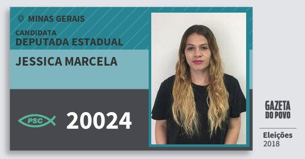 Santinho Jessica Marcela 20024 (PSC) Deputada Estadual | Minas Gerais | Eleições 2018