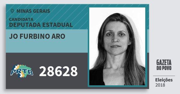 Santinho Jo Furbino Aro 28628 (PRTB) Deputada Estadual | Minas Gerais | Eleições 2018