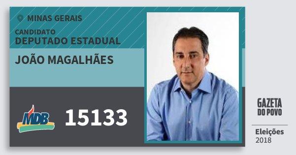 Santinho João Magalhães 15133 (MDB) Deputado Estadual | Minas Gerais | Eleições 2018