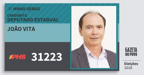 Santinho João Vita 31223 (PHS) Deputado Estadual | Minas Gerais | Eleições 2018