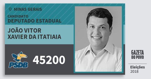 Joao Vitor Xavier Da Itatiaia 45200 Psdb Deputado Estadual Minas Gerais Eleicoes 2018