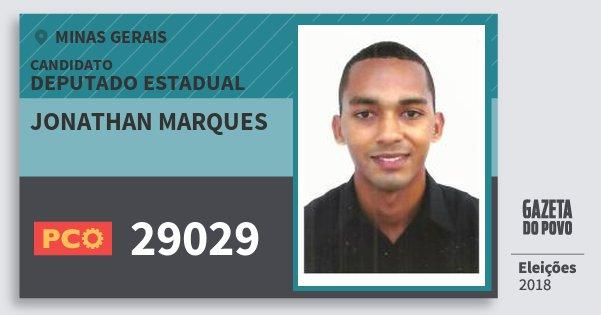 Santinho Jonathan Marques 29029 (PCO) Deputado Estadual | Minas Gerais | Eleições 2018