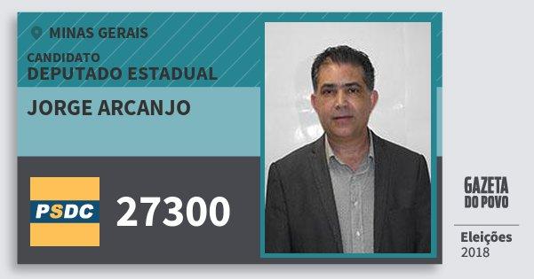 Santinho Jorge Arcanjo 27300 (DC) Deputado Estadual | Minas Gerais | Eleições 2018