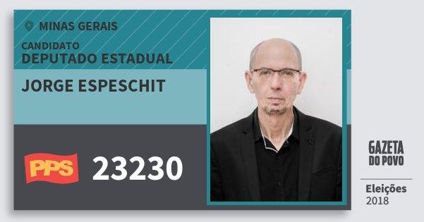 Santinho Jorge Espeschit 23230 (PPS) Deputado Estadual | Minas Gerais | Eleições 2018