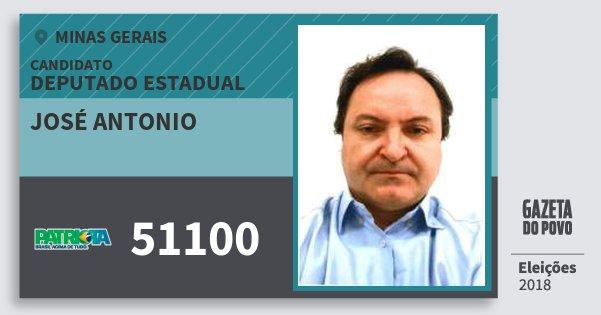 Santinho José Antonio 51100 (PATRI) Deputado Estadual | Minas Gerais | Eleições 2018