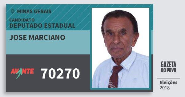 Santinho Jose Marciano 70270 (AVANTE) Deputado Estadual | Minas Gerais | Eleições 2018