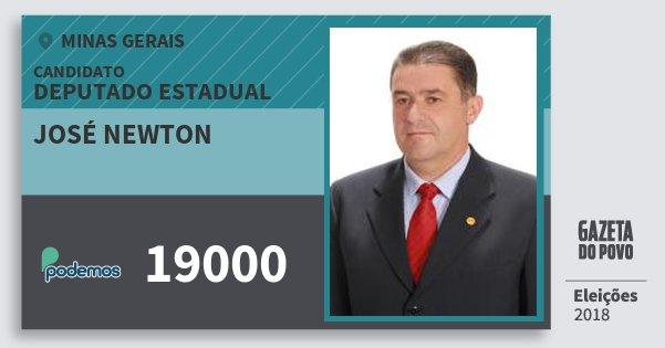 Santinho José Newton 19000 (PODE) Deputado Estadual | Minas Gerais | Eleições 2018